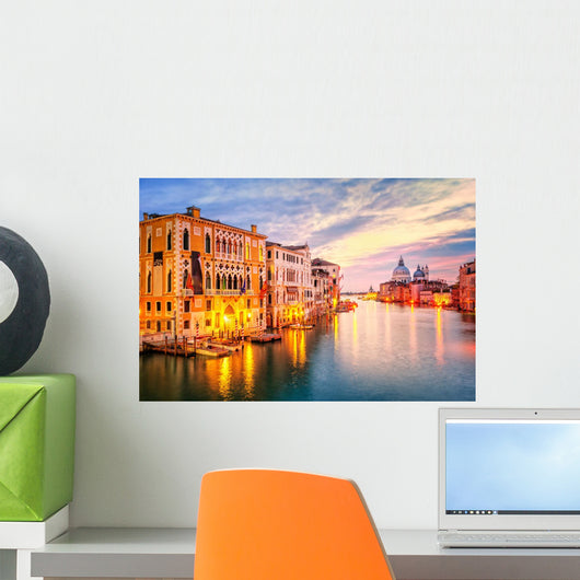Grand Canal and Basilica Wall Decal
