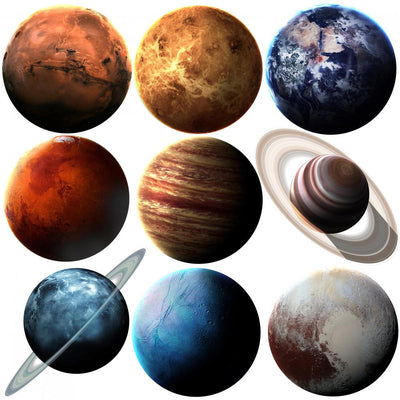 Nasa Solar System Planets Wall Stickers Wall Decal