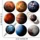 Hight quality isolated solar system planets. Elements of this image furnished by NASA Wall Decal