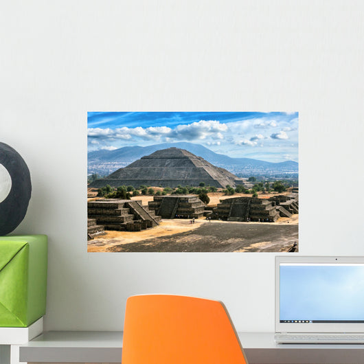 Teotihuacan Pyramids Wall Decal