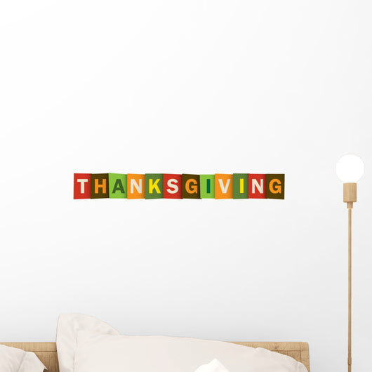 Thanksgiving Vector Letters Icon Wall Decal