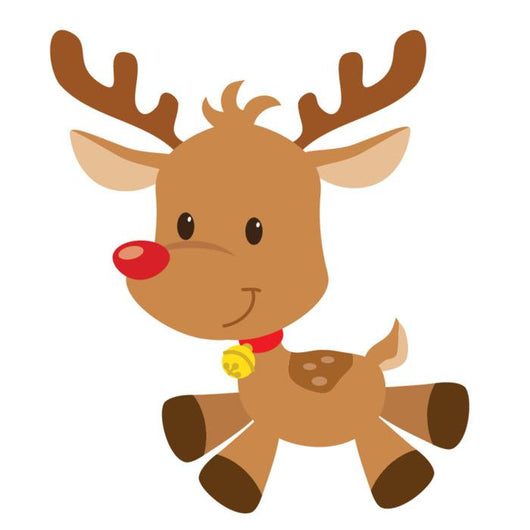 Christmas Reindeer Vector Illustration Wall Mural