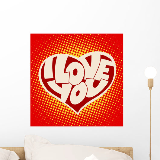 Heart I Love You Wall Decal