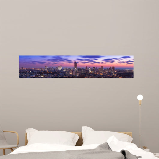 Tel Aviv Cityscape Sunset Wall Decal