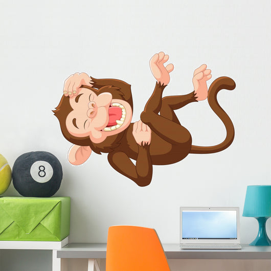 Cartoon Funny Monkey Laughing Wall Decal