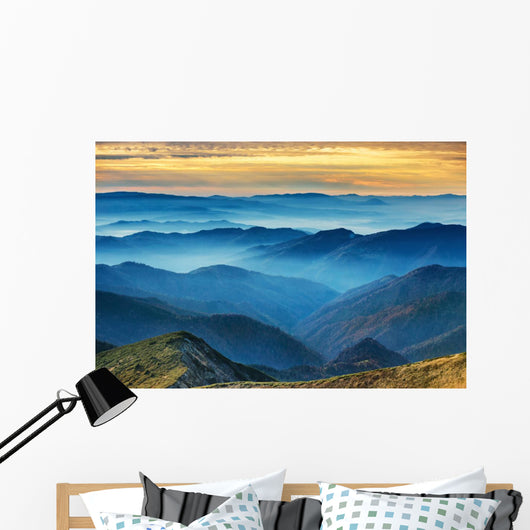 Blue Mountains and Hills Wall Decal