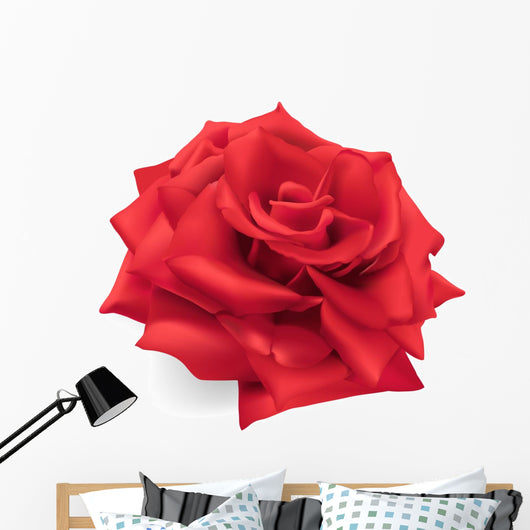 Red Rose Hand Drawn Wall Decal