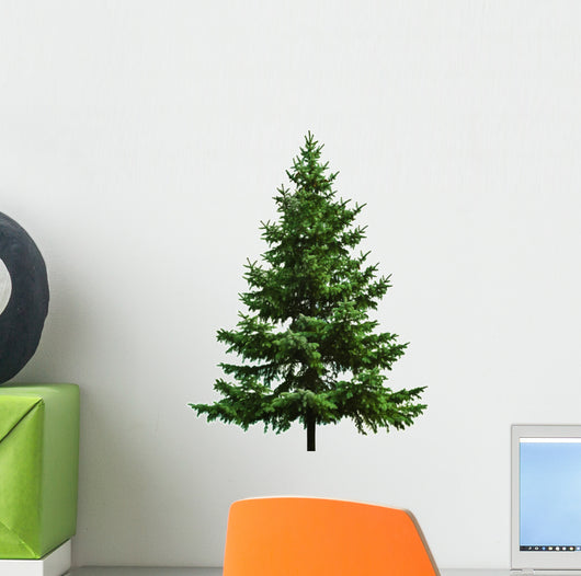 The Bare Christmas Tree Ready to Decorate Wall Decal