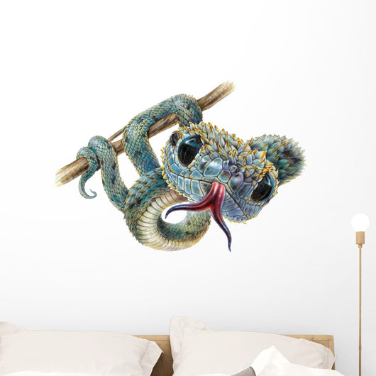Bush Viper Snake Wall Decal