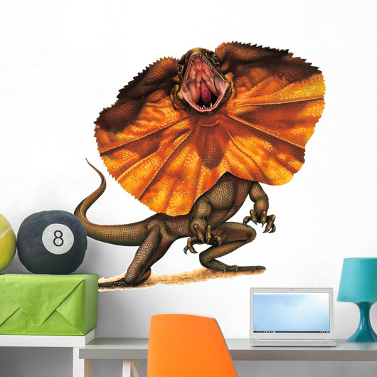 Frilled Lizard Reptile Wall Decal