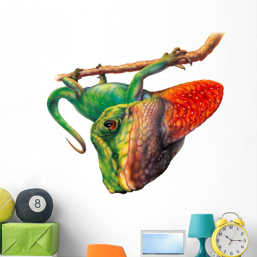 Green Anole Lizard Wall Decal