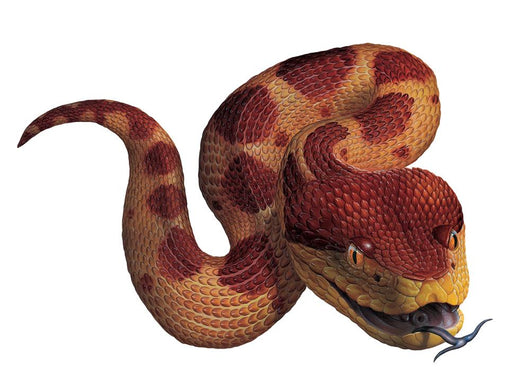 Jumping Viper Snake Wall Decal