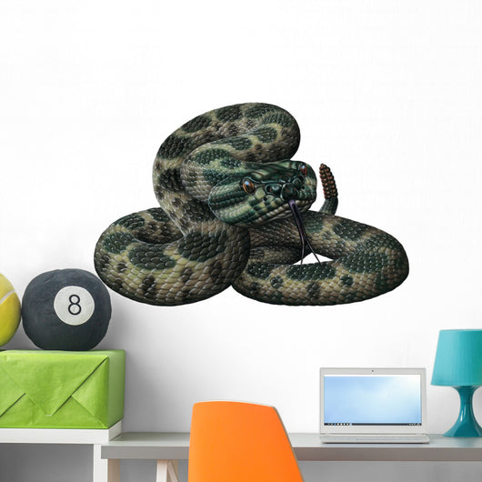 Massassauga Rattlesnake Snake Wall Decal