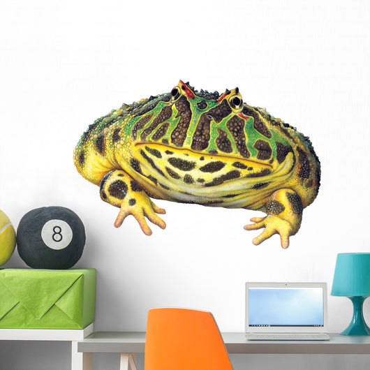 Ornate Horned Frog Wall Decal