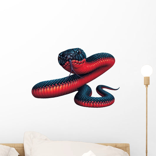 Red-Bellied Black Snake Wall Decal