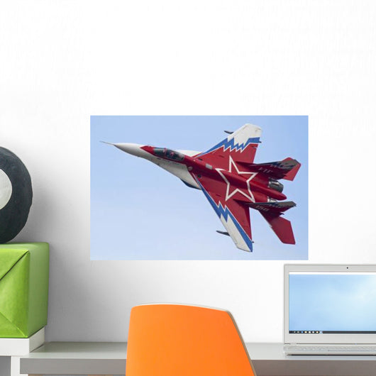 Top Russian Mig-29ovt Aerobatic Wall Decal