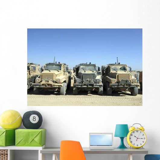 Tank Transporter Military Vehicles Wall Decal