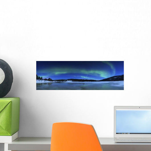 Aurora Borealis Tennevik Lake Wall Decal Design 1