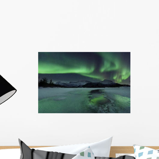 Reflected Aurora over Frozen Wall Decal Design 1