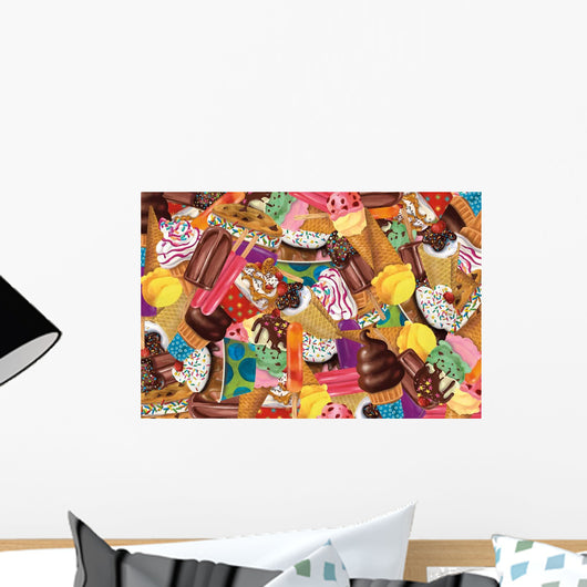 Ice Cream Collage Wall Mural