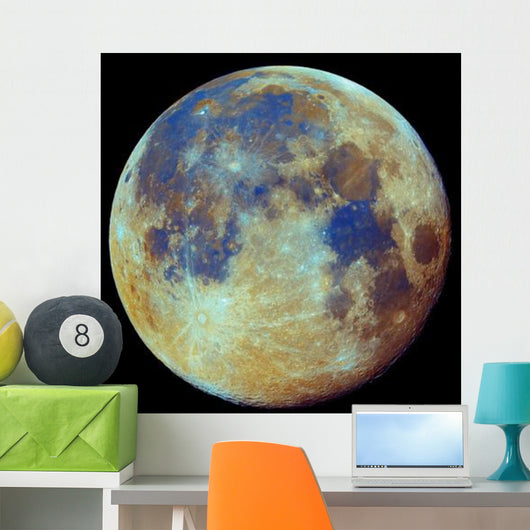 Colored Moon Geological Differences Wall Decal