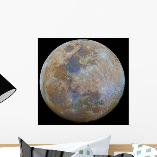 Almost Full Moon Color Wall Decal