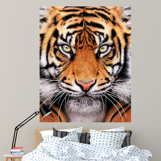 Tiger Face Wall Mural