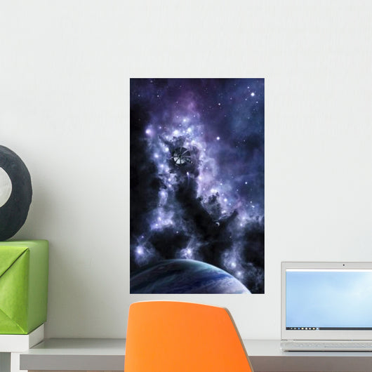 Solar Sail Appears from Wall Decal