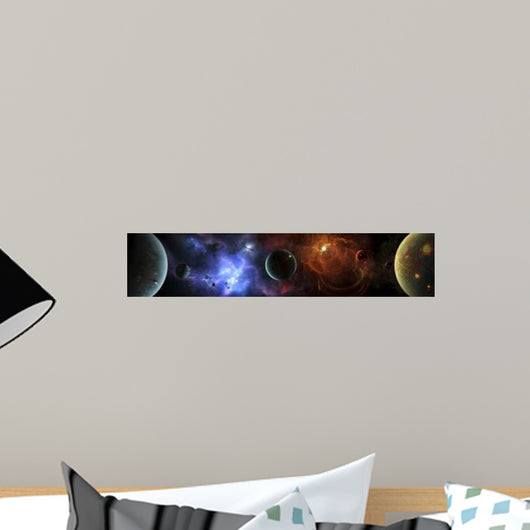 Massive and Crowded Universe Wall Decal