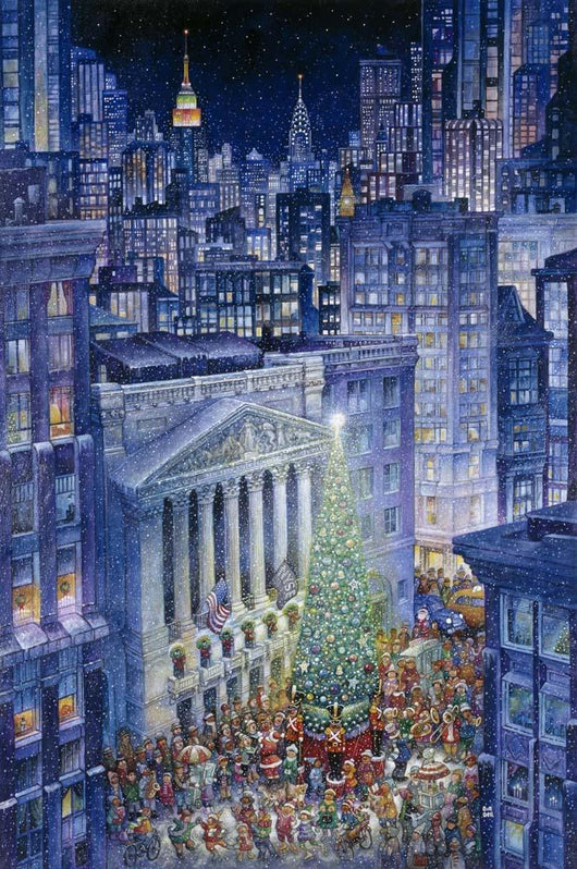 Christmas In The City Wall Mural