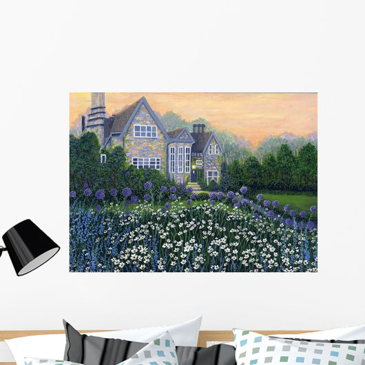 English Cottage lg Wall Mural
