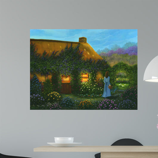 Irish Cottage Wall Mural