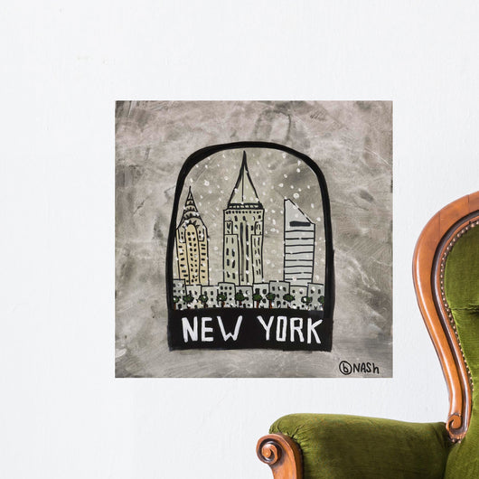 New York Snowglobe Wall Mural