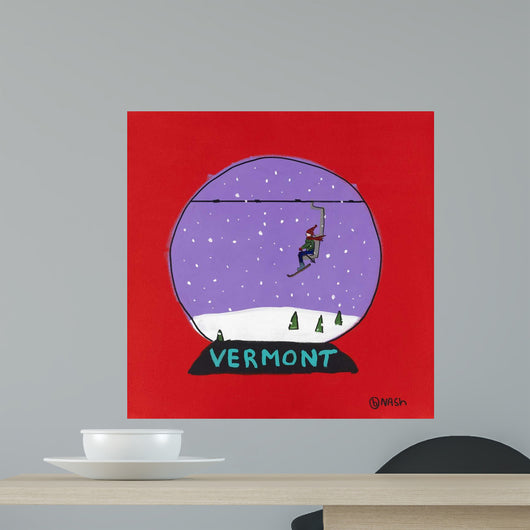 Vermont Snow Globe Wall Mural