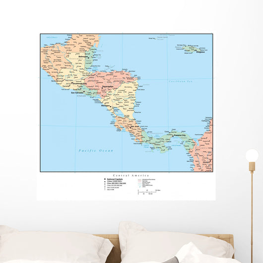 Map of Central America Wall Mural