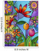 Fence With Flowers Wall Mural