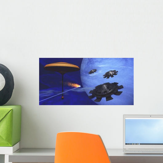 Meteor Flies past Space Wall Decal
