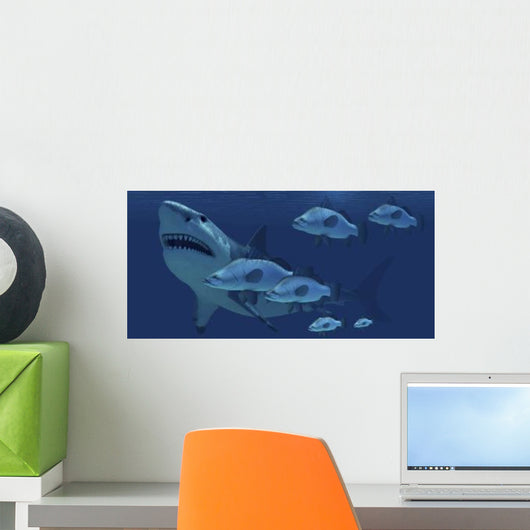 School Fish Encounter Monstrous Wall Decal