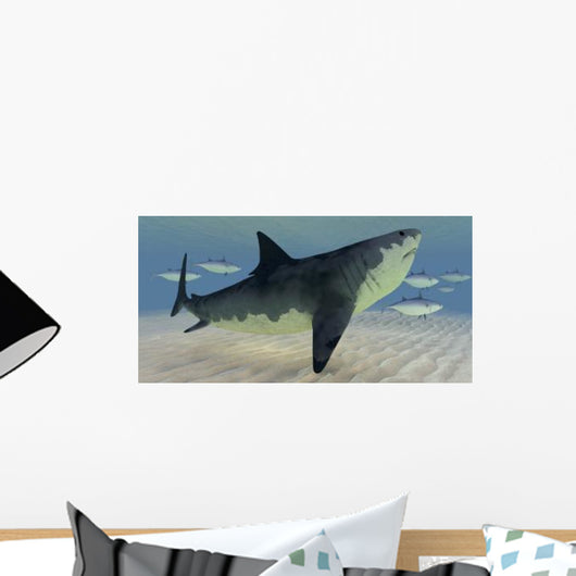 Great White Shark amongst Wall Decal