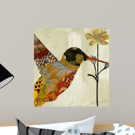 Hummingbird Brocade III Wall Mural