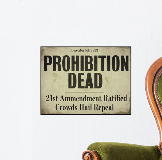 Prohibition Wall Mural