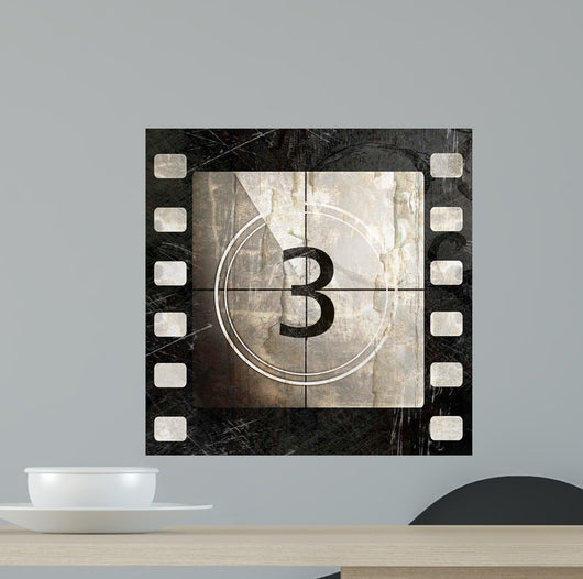 Vintage Movie Countdown Wall Mural