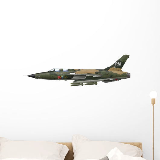 Illustration F-105f Thunderchief Fighter-bomber Wall Decal