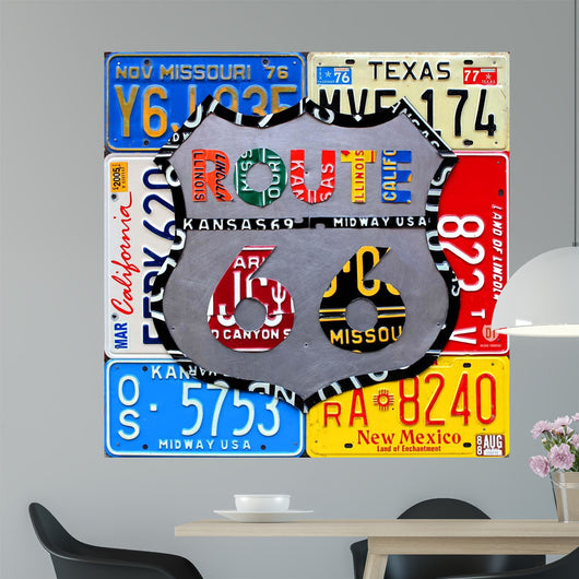 Route 66 Road Sign Wall Mural