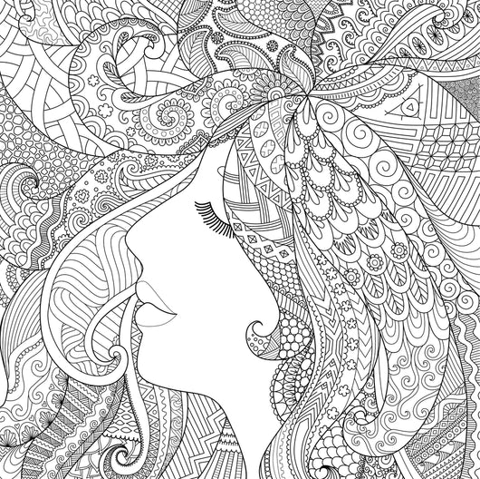 Girl Sleeping Coloring Page Decal