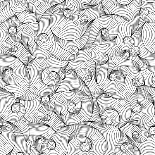 Seamless Wave Pattern Coloring Page Decal