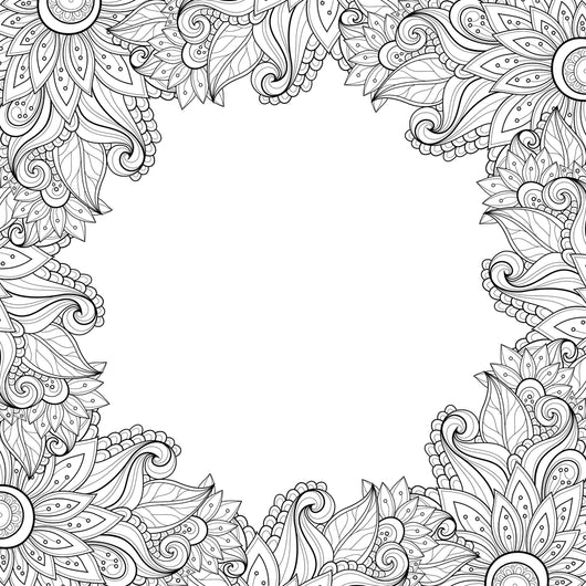 Custom Abstract Floral Coloring Page Decal