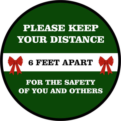 Holiday Floor Decal | Social Distance Stay 6 Feet Apart 12
