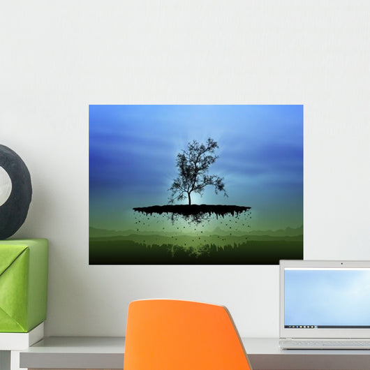 Digitally Generated Image Flying Wall Decal Design 2