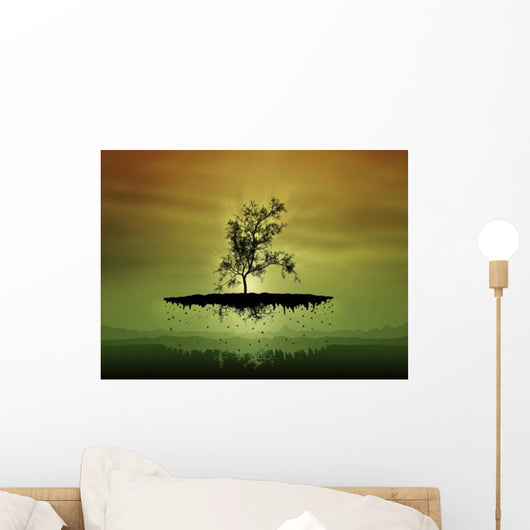 Digitally Generated Image Flying Wall Decal Design 1